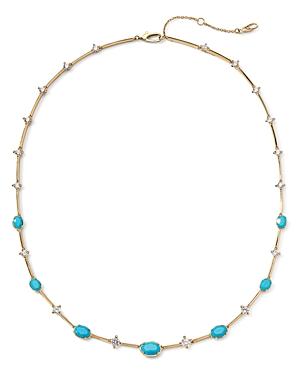 Nadri 18K Gold-Plated Cubic Zirconia & Stone Collar Necklace, 16-18