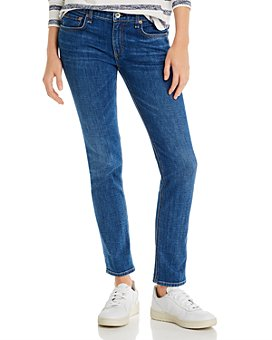 rag & bone - Dre Low-Rise Slim Boyfriend Jeans in Mission Ci