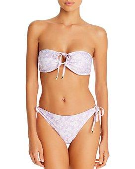Peony - Floral-Print Bandeau Bikini Top & Floral-Print Side-Tie Bikini Bottom - 100% Exclusive