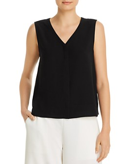 Eileen Fisher - Silk V-Neck Sleeveless Top