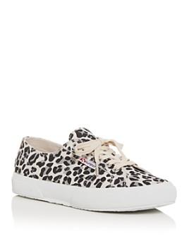 Superga - Women's Leopard-Print Low-Top Sneakers