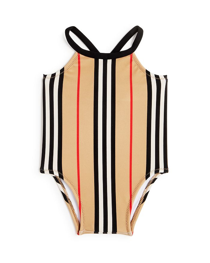 Burberry - Girls' Icon Stripe Swimsuit - Baby