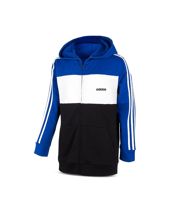 Adidas - Boys' Color-Block Zip Hoodie - Big Kid