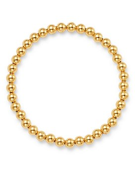 Moon & Meadow - 14K Yellow Gold Bead Stretch Bracelet - 100% Exclusive