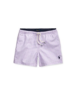 Ralph Lauren - Boys' Traveler Plaid Swim Trunks - Little Kid