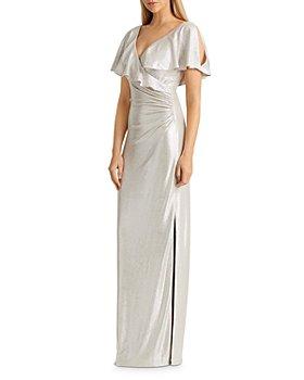 Ralph Lauren - Metallic Crossover-Front Gown