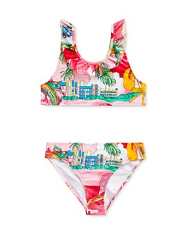 Ralph Lauren - Girls' Printed Ruffled Two-Piece Swimsuit - Big Kid
