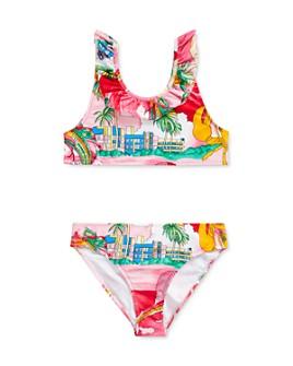 Ralph Lauren - Girls' Printed Ruffled Two-Piece Swimsuit - Big Kid