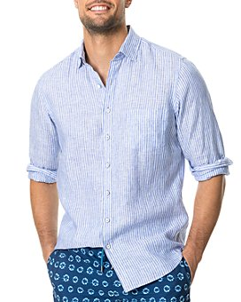 Rodd & Gunn - Bay of Plenty Linen Stripe Regular Fit Button-Down Shirt