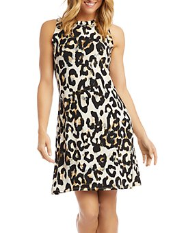 Karen Kane - Animal-Print A-Line Dress