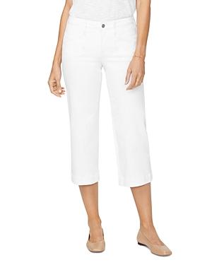 Nydj Utility Capri Wide-Leg Jeans in Optic White