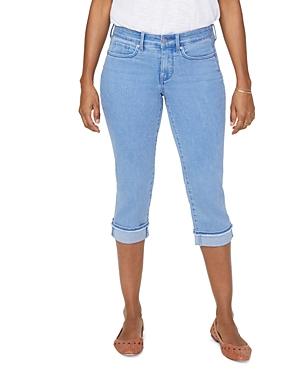 Nydj Marilyn Frayed Hem Cropped Straight Jeans in Belle Isle