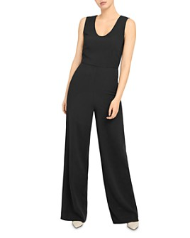 Theory - Seamed Crepe Jumpsuit