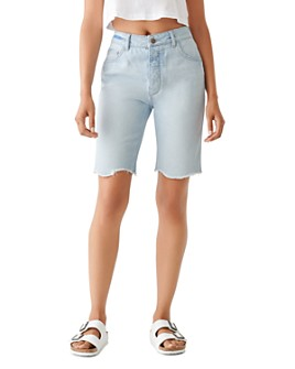 DL1961 - Clara Cotton Denim Bermuda Shorts in Kingsland