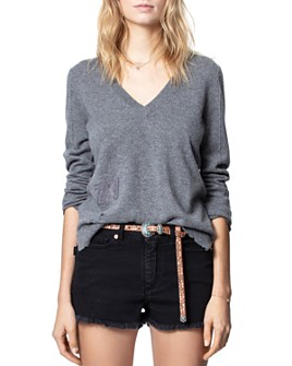 Zadig & Voltaire - Shannon Cashmere Destructed Sweater