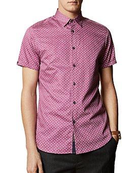 Ted Baker - Weare Cotton Floral-Print Regular Fit Shirt