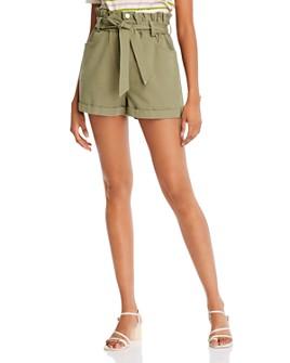 AQUA - Cotton Paperbag-Waist Shorts - 100% Exclusive