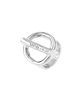 Uno de 50 - On/Off Silver-Plated Ring