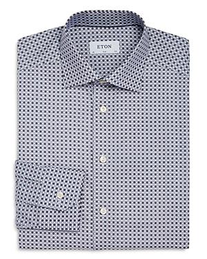 Eton Flower Medallion Slim Fit Dress Shirt