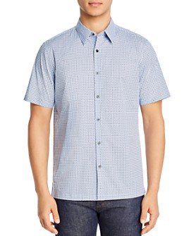 Theory - Irving Regular Fit Geometric Print Shirt
