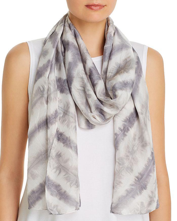 Eileen Fisher - Chevron Tie-Dyed Stripe Silk Scarf