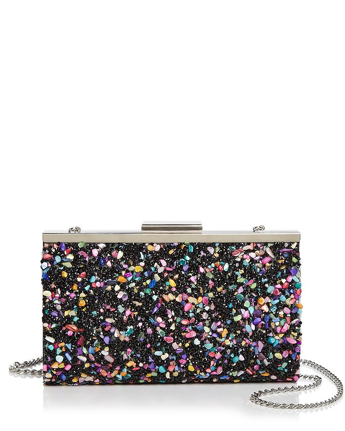 Aqua Rock Candy Frame Clutch - 100% Exclusive In Black Multi/silver