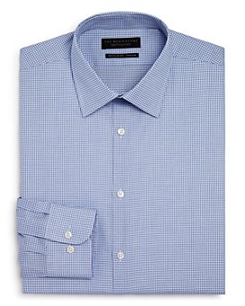 The Men's Store at Bloomingdale's - Shadow Grid Stretch Regular Fit Dress Shirt - 100% Exclusive