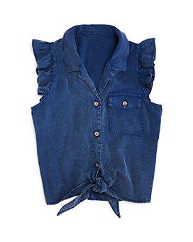 AQUA - Girls' Sleeveless Front-Tie Shirt