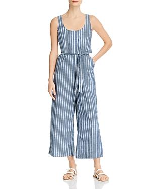 Vero Moda Dotti Striped Chambray Jumpsuit