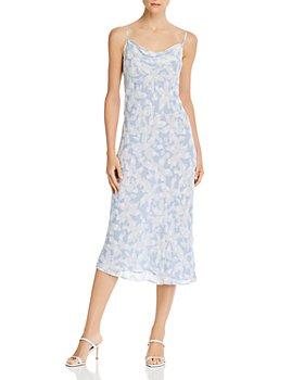 Joie - Marcenna B Floral-Print Cowl-Neck Dress - 100% Exclusive