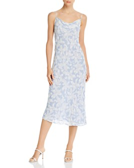 Joie - Marcenna B Floral-Print Cowl-Neck Dress - 100% Exclusive