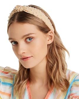 Lele Sadoughi - Embellished Woven Knotted Headband