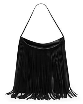 Gerard Darel - Lady Hair Fringed Leather Shoulder Bag