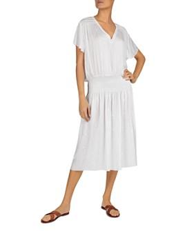 Gerard Darel - Solene Smocked Midi Dress