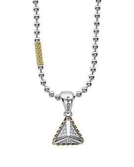 "LAGOS - 18K Yellow Gold & Sterling Silver Diamond Pendant Necklace, 16""-18"""