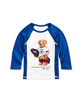 Ralph Lauren - Boys' Surfboard Polo Bear Logo Graphic Rash Guard - Baby