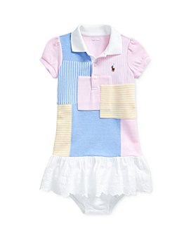 Ralph Lauren - Girls' Cotton Oxford Patchwork Drop-Waist Dress & Bloomers Set - Baby