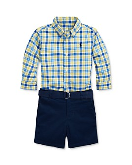 Ralph Lauren - Boys' Shirt, Belt & Shorts Set - Baby
