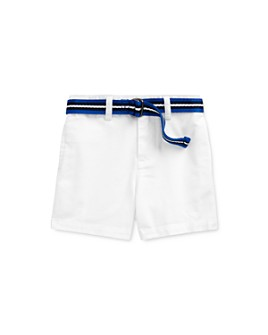 Ralph Lauren - Boys' Cotton Stretch Chino Shorts & Stripe D-Ring Belt Set - Baby