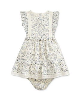 Ralph Lauren - Girls' Cotton Ruffled Floral-Print Fit-and-Flare Dress & Bloomers Set - Baby