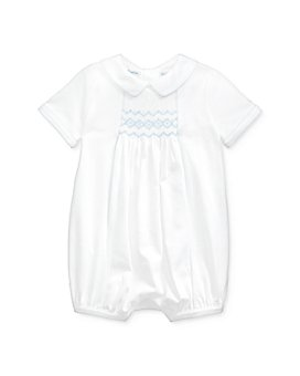 Ralph Lauren - Boys' Cotton Hand-Smocked Shortalls - Baby