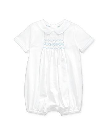 Ralph Lauren - Boys' Cotton Hand-Smocked Shortalls - Baby