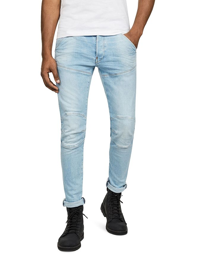 G-STAR RAW - 5620 3-D Slim Fit Jeans in Sun Faded Crystal Blue