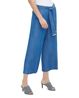 Calvin Klein - Cropped Pull-On Pants