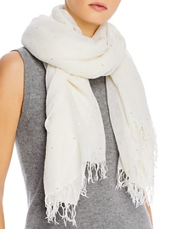 Chan Luu - Cashmere & Silk Scarf with Scattered Sequins