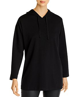 Eileen Fisher Petites - Hooded Long Boxy Top
