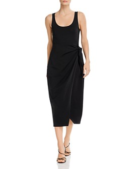 FRENCH CONNECTION - Zena Tie-Side Midi Dress