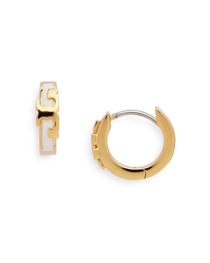 Tory Burch - SERIF-T Huggie Hoop Earrings