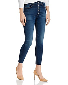 rag & bone - Nina High-Rise Skinny Ankle Jeans in Atlantic