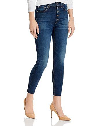rag & bone - Nina High-Rise Skinny Ankle Jeans in Atlantic